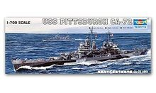 Trumpeter 1/700 scale model 05726 US Navy Baltimore Class CA-72 Pittsburgh Heavy Cruiser 1944(China)