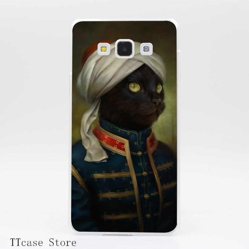 3565CA The Hermitage Court Moor Cat Transparent Hard Cover Case for Galaxy A3 A5 A7 A8 Note 2 3 4 5 J5 J7 Grand 2 & Prime