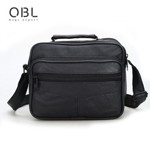 Genuine Leather Messenger Bags Men Casual Business Crossbody Shoulder Bag Man Handbags Black Sacoche Homme Bolsa Masculina MBA12