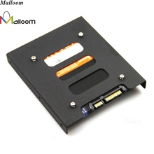 Malloom 2017 2.5'' SSD HDD To 3.5'' Hard Drive Holder Adapter Mounting Adapter Bracket Dock Enclosure Holder to Connect For PC(China)