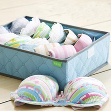 Foldable Colorful Bamboo Nonwoven Storage Box For Underwear Socks Tie Bra Closet Drawer Divider Organizer Box Container 7 Cell