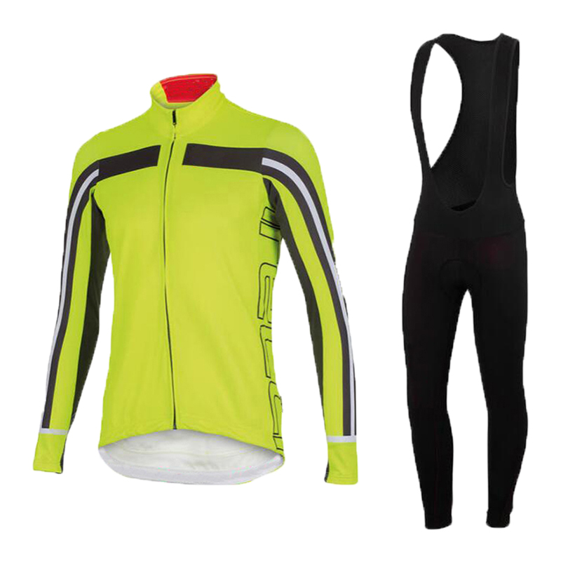 Pro Cycling Jersey Long Sleeve Breathable and Cycling bib Pants Sets Cycling Wear<br><br>Aliexpress