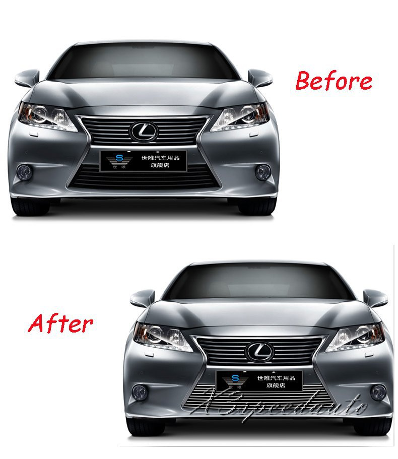For Lexus ES250 300H 2013+ FGrill Grille ront Bottom Racing Cover High Quality New Aluminum Alloy <br><br>Aliexpress