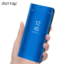 DaTTap case For Huawei mate 10 lite case Flip Mirror Clear View back cover For Huawei Mate 10 Pro Case Leather coque case cover(China)