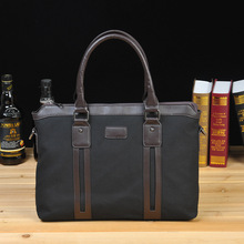 2016 NEW MENS portable briefcase washed Canvas Messenger Bag computer bag classic style leisure(China)