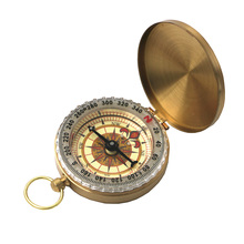 Bronze Pattern Compass Gold Dial Quartz Pocket Watch Navigation For Camping Hiking Travel Emergency Survival Tool(China)