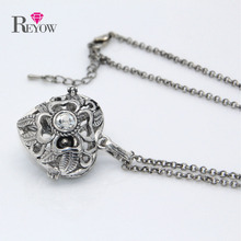 Buy Free 5pcs/lot Big Pendant Chain Necklace Heart Shaped Flower Hollow Locket Aromatherapy Essential Oil Diffuser Jewelry for $13.13 in AliExpress store