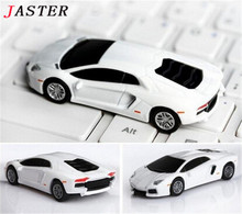 JASTER Cool White Car Model USB 2.0 Memory Stick Flash disk PenDrive 2GB 4GB 8GB 16gb 32gb usb flash drive free shipping