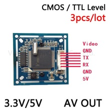 3pcs/lot  UART RS232 / TTL JPEG Serial Port CCTV Camera  Module SCA  With Video Out   VIMICRO VC0706 protocol  Free shipping!!