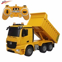 RC Truck Dumper 2.4G 4WD Remote Control Tittle Cart Engineer 6CH Recharger Demo Function with Lights and Sound Model Toys Hobby(China)