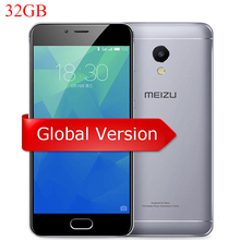 "Original MEIZU M5S Global Version 3GB 32GB Cell Phone MTK6753 Octa Core 5.2"" HD IPS Fingerprint Fast Charging Mobile Phone"