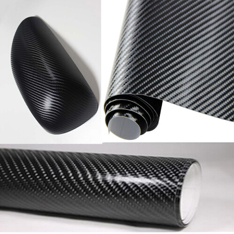 Free shipping! 152cm*30cm Car Styling Waterproof Black color 3D Carbon Fiber Vinyl film(China (Mainland))