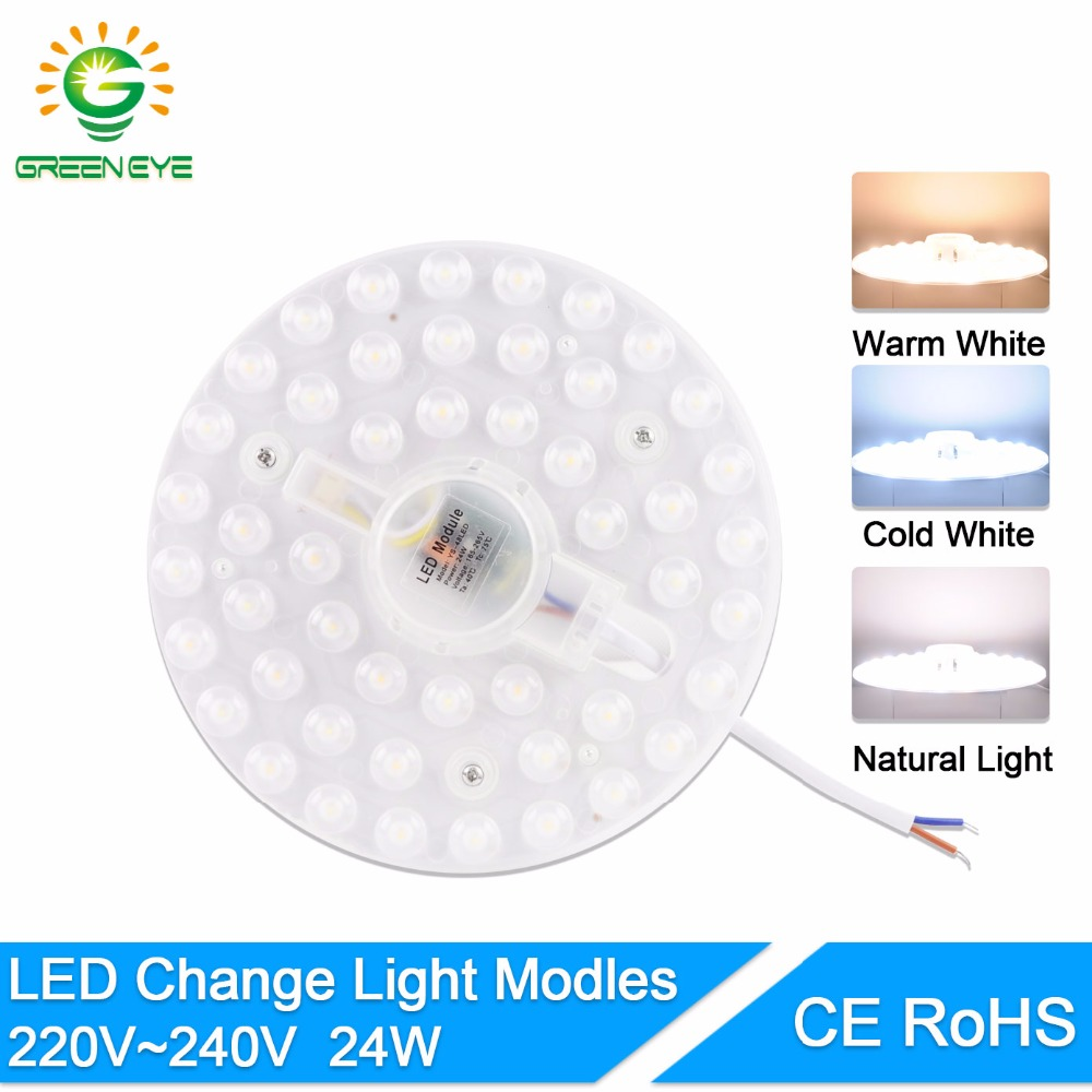 GreenEye Long Life 12W 18W 24W LED Panel Ceiling Light Lamp Replace Downlight Accessory Magnetic Source Light Board Bulb 220V<br>