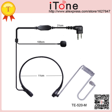 Throat Vibration Mic Earpiece Finger PTT  for Motorola GP2000 GP2100 GP300 GP308 GP68 GP88 GP88S Throat Vibration Mic Earpiece
