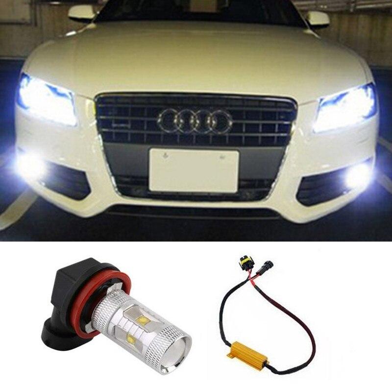 1pcs No Error Led Chips Car Lights Fog Driving Light for Audi A3 A4 A5 S5 A6 Q5 Q7 TT<br><br>Aliexpress