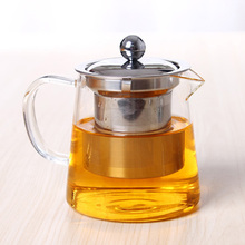 CHA YUAN CHUAN SHI stainless steel cover heat resistant glass teapot coffee flower tea set black tea pot apply office indoor(China)