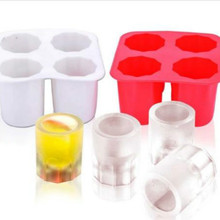 1Pc Cool Shooters Ice Shot Glasses ice Cup creative ice cube edible party Drinkware Ice Cream Tools(China)