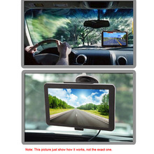 "KKmoon 7"" Portable HD Screen GPS Navigator MP3 FM Video Play Car Entertainment System with Handwriting Pen +Free Map"