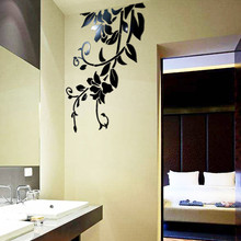 DIY 3D Wall Stickers Mirror Decorative Wall stickers muraux acrylic mirrored decorative sticker home decoration vinilos paredes(China)