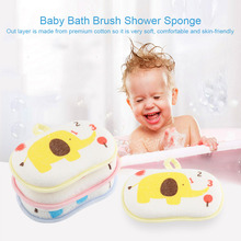 Buy Baby Infant Shower Bath Brushes Sponge Cotton Rubbing Body Wash Children Brush bath brushes Baby Towel Accessories 2018 for $1.31 in AliExpress store