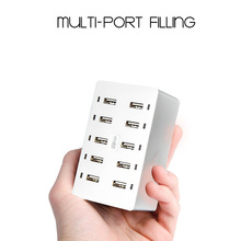 Multi Port Charger 10 Port USB Wall Charger 8A Desktop Intelligent Charging Stations for Smart Phone Tablet Notebook Camera(China)