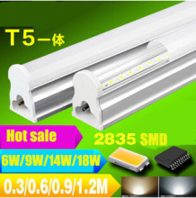 Free shipping 30pcs/lot 5W, t5 Integration Tube led tube t5, 300mm, AC85-260V Top quality SMD2835 aluminum alloy tube CE & ROHS(China)
