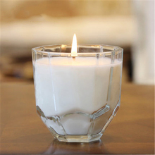Glass Candle Wedding Decoration Cup Aromatherapy Gift Candela Anniversaire Home Wax Candles Making Scented Candle Yankee DDZ170(China)