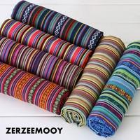 ZERZEEMOOY 100X145CM polyester/cotton fabric ethnic decorative fabrics for sofa cover cushion cloths curtains