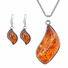 OBSEDE Unique Style Marquise Crystal  Pendants Vintage African Wedding Party Jewelry Sets Stainless Steel Hook Earrings Necklace