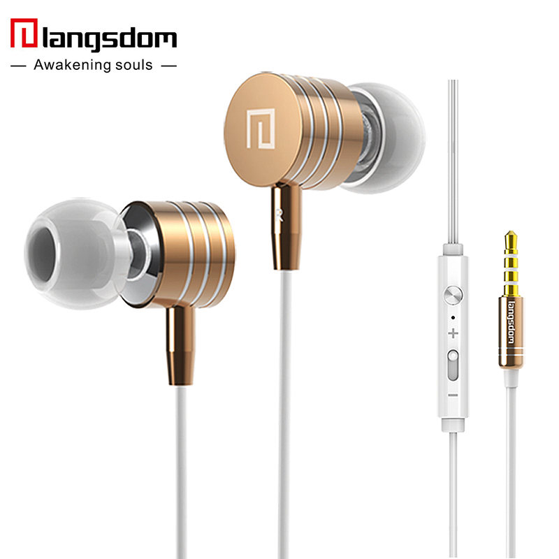 Langsdom i7A 3.5mm Metal Earphones Super Bass Stereo Earphone Earbuds with Microphone Volume Headsets for phone fone de ouvido<br><br>Aliexpress