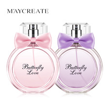 MayCreate 50ML Brand Long Lasting Women Perfume Atomizer Perfume Bottle Glass Lady Perfume Fragrance Spray Scent Feminino Parfum(China)