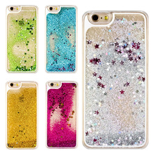 Clespruce Transparent Glitter Stars Dynamic Liquid Quicksand Hard Case Meteor Twinkling Cover for iPhone X 8 8plus 6 6s 7 plus