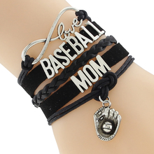 Infinity Love BASEBALL MOM Team sports Bracelet Customize Wristband friendship Bracelets(China)