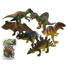 6Pcs/Set Vivid Dinosaur Design Toy Set Plastic Play Toys Dinosaur Model Action and Figures Best Gift for Kids Children Gift(China)