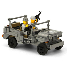 KAZI Military US Army Willys MB Jeep Airborne World War Classic Model Block Bricks Building Toys Compatible Legoe Gifts For Kids