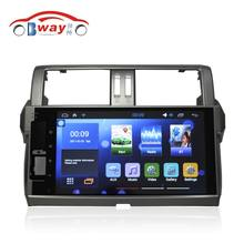 "Bway 10.2""Car radio for TOYOTA PRADO 2014 Quadcore Android 6.0.1 car dvd player gps navigation with 1 G RAM,16G iNand(China)"