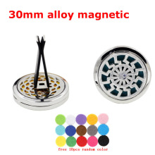 Wind Magnet Diffuser Car Aroma Perfume Locket Free 10 Pads Essential Oil Car Diffuser Lockets Aromatherapy Men Best Gift