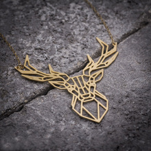 NianDi Animal Necklace Deer Necklace, Deer Antler Pendant Animal Mujer Necklace&Pendants Party Accessories YLQ0543