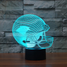 NFL Team Logo Collection Carolina Panthers Football Cap Helmet 3d Light 7 Color Nightlight for Child Bedroom Christmas Gift 3432