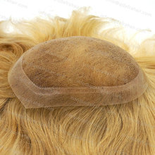 Wig Men Indian Human Hair Toupee Real Swiss Lace Natural Hairline Invisible Knots H036