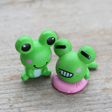 1.6 x 1.8 cm Cute Funny Frog Cartoon ornaments,20 pcs PVC Action Figure Model Toy Gifts Toys(China)