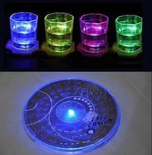 Delicate Colorful Changing LED Light Drink Glass Bottle Cup Coaster Mat Bar Party Xmas Gift(China)