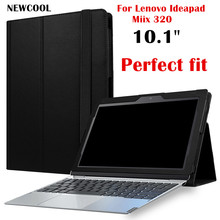 "Miix325 Business Style Leather Case (can put keyboard) For Lenovo Ideapad Miix 320 MIIX320-10ICR 10.1"" Tablet Case Flip Cover(China)"