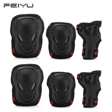 FEIYU Knee Elbow Pads Wrist Guards Protective Gear Set Cycling Skateboard Ice Skating Roller Protector(China)