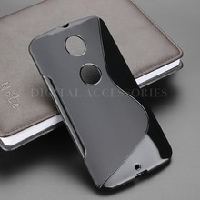 8 Color S Line Anti Skidding Gel TPU Soft Case Back Cover For Motorola Google Nexus 6 XT1100 XT1103 Mobile Phone Silicone Bag(China)