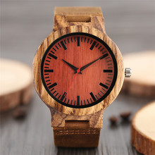 2017 Hot Creative Bamboo Watches for Couple Gifts Luxury Cool Wooden Watch Genuine Leather Strap Fashion Nature Handmade Clocks