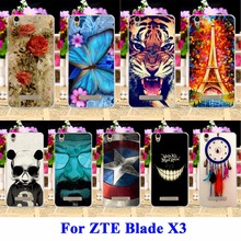DIY Flexible Soft TPU Silicon Cell Phone Cases For ZTE Blade X3 Covers D2 T620 Blade D2 Blade T620 Housing Bags Skin Shell Hood