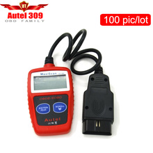 100pcs/lot Hot sale new for Autel MaxiScan MS309 OBD2 OBDII Scanner CAN BUS Code Reader Car Diagnostic Tool DHL Free