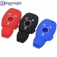 jingyuqin 3 Buttons Silicone Car Key Case Cover Mercedes Benz Fob Remote Case Smart W203 W211 CLK C E S Class Slk Cl