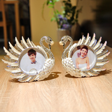 Beautiful Swan Two-piece Table Frame Metal Photo Frame 3.5inch for Children